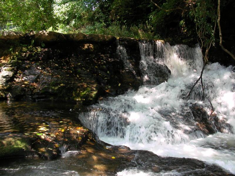滝の端の方