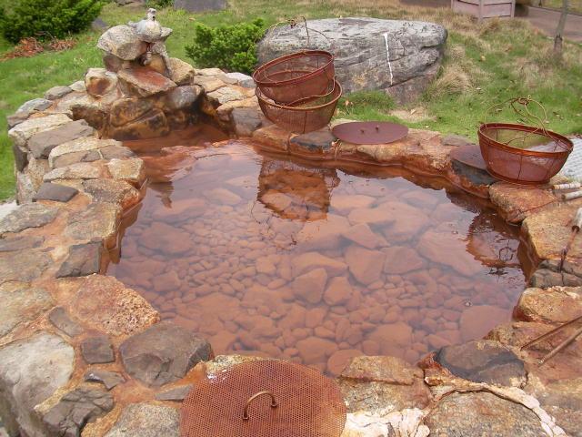 温泉が湧く